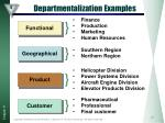 departmentalization examples