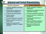 informal and formal organizations