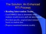 the solution an enhanced rti process2