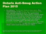 ontario anti smog action plan 2015