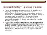 industrial strategy picking winners