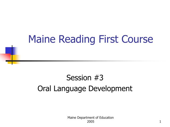maine reading first course n.