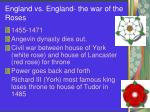 england vs england the war of the roses