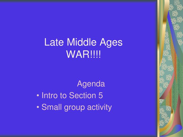 late middle ages war n.