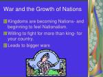 war and the growth of nations