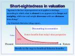 short sightedness in valuation