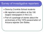 survey of investigative reporters