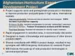 afghanistan horticulture export development project