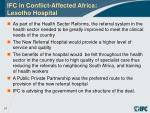 ifc in conflict affected africa lesotho hospital