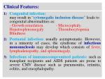 clinical features