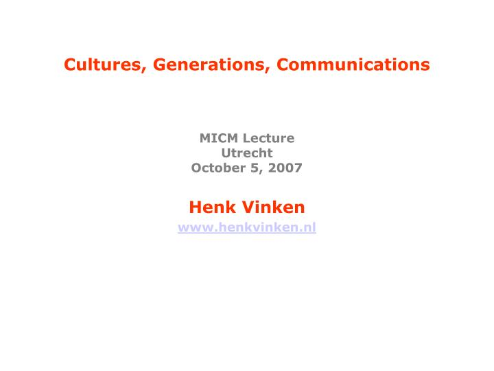 cultures generations communications n.