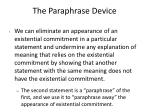 the paraphrase device