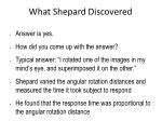 what shepard discovered