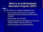 what is an individualized education program iep