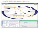 citation map two forward generations