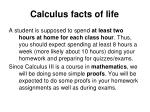 calculus facts of life