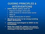 guiding principles interventions