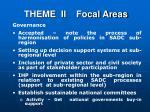 theme ii focal areas