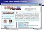 special topics www esi topics com