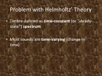 problem with helmholtz theory
