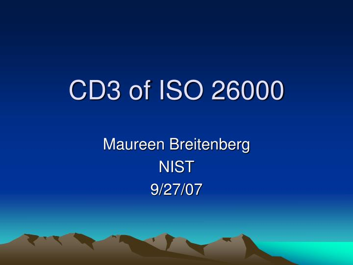 cd3 of iso 26000 n.