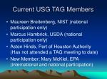 current usg tag members