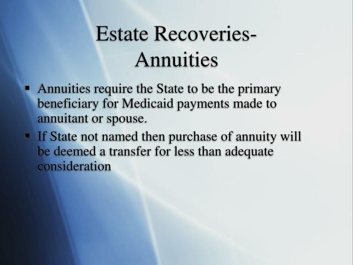 Estate Recoveries-