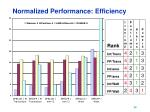 normalized performance efficiency