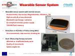 wearable sensor system