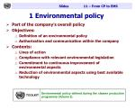 1 environmental policy