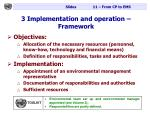 3 implementation and operation framework