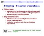 4 checking evaluation of compliance