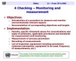 4 checking monitoring and measurement