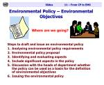 environmental policy environmental objectives