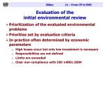 evaluation of the initial environmental review