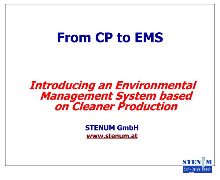 from cp to ems n.