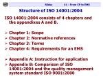 structure of iso 14001 2004