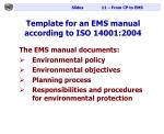 template for an ems manual according to iso 14001 2004