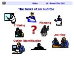 the tasks of an auditor