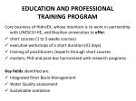 education and professional training program