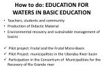how to do education for waters in basic education