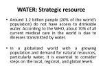 water strategic resource
