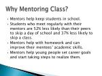 why mentoring class