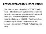 ecs300 web card subscription