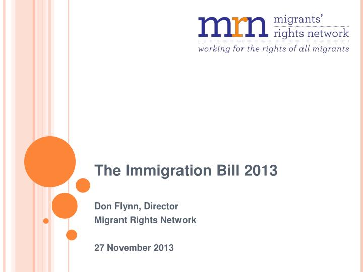 the immigration bill 2013 n.