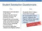 student satisfaction questionnaire