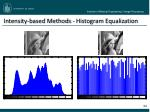 intensity based methods histogram equalization1
