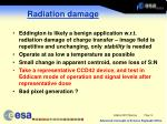 radiation damage