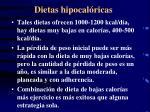 dietas hipocal ricas