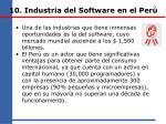 10 industria del software en el per